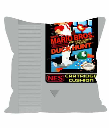 "Cartridge Series 12"" Sofa Cushion inspired by NES Mario Bros & Duck Hunt"